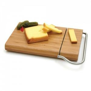 Swissmar Bamboo Board with Cheese Slicer